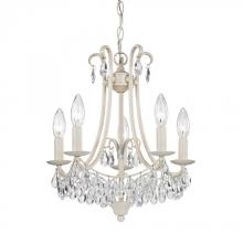 Sterling Industries 122-021 - 5 Light Mini Chandelier In Antique Cream And Clear