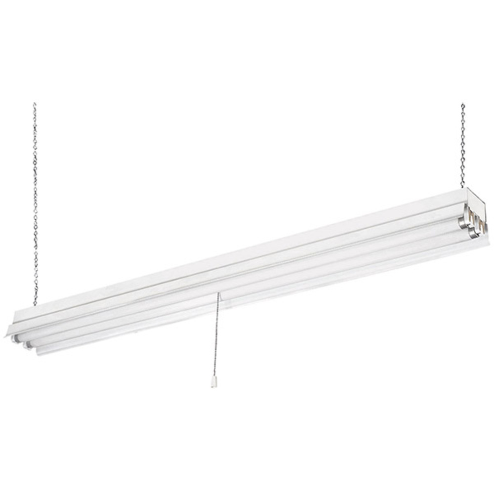 "LED Tube Fixture, LS848218C-B6K, 48"" ShopLight with Cord And Plug, 2 Bulb, 18W LED Tube T8 6000K"