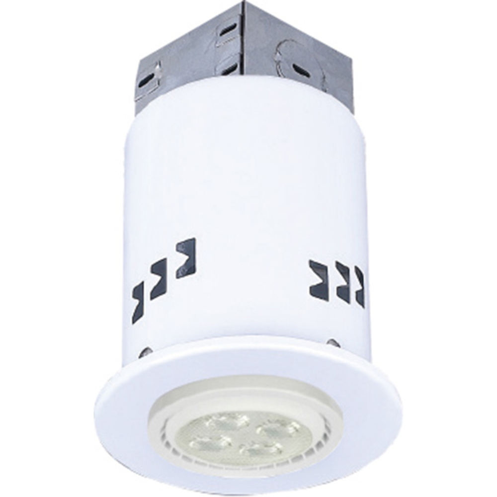 "Recessed, RD3DCWH-LED, 3"" IC and Non-IC REMODEL, Gimbal Trim, 1 x Bymea 7.5W 500Lumen 3000K GU10"