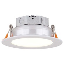 "Canarm LED-SR4P-WT-C - LED Recess Downlight,  LED-SR4P-WT-C, 4"" White Color Trim, 10W Dimmable, 3000K, 580 Lumen, Reces"