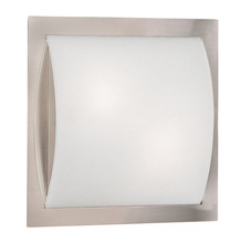 "Canarm RIFM112BPT - RIFM112BPT Ceiling or Wall Light, Brushed Pewter, Flat Opal Glass, 100W Type A, 11 1/2"" W x 11 1"