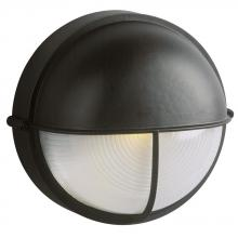 Galaxy Lighting 305561BLK - Cast Aluminum Marine Light With Hood - Black W/ Frosted Glass