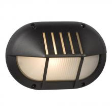 Galaxy Lighting 320260BK - Marine Light - Black with Frosted Glass