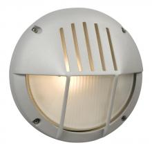 Galaxy Lighting 320350MS - Marine Light - Matte Silver with Frosted Glass