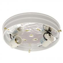 Galaxy Lighting 810210WHH-2X60W - Utility Flush Mount Holder - White