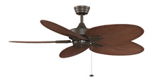 Fanimation FP7500OBP4 - Windpointe - 22 inch - Oil-Rubbed Bronze with Brown Narrow Oval Blades